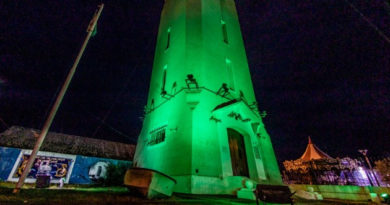 Río Grande iluminó sus edificios emblemáticos de color verde para concientizar sobre la vida que se da a través de la donación