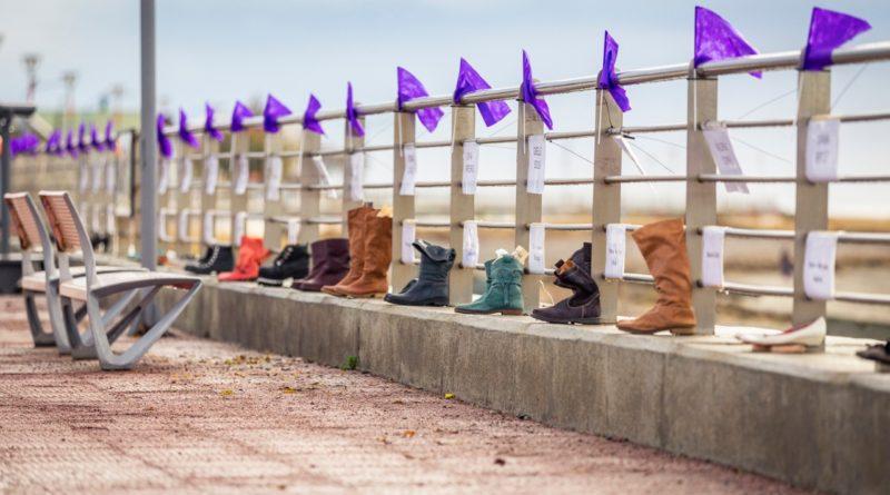 Río Grande: El paseo costero se utilizo para concientizar sobre violencia de género